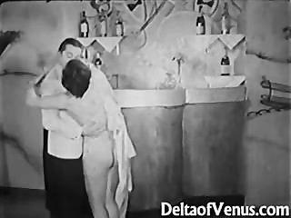 Antigüedades Porno 1930 Ffm Threesome Nudist Bar