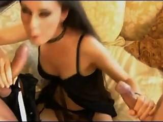 Doble Vaginal Y Doble Barril Mamada