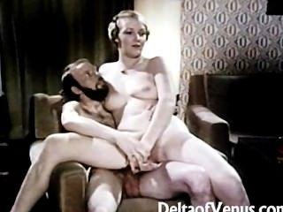 Vintage Porno 1970 Clásico Interracial Alemán