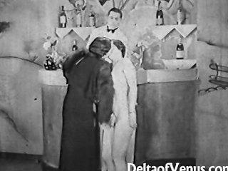 Auténtico Vintage Porno 1930s Ffm Trío