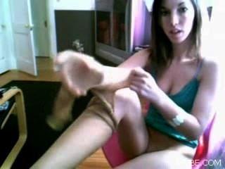 Pantyhouse Webcam Adolescente Amateur Skype Casero