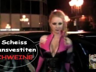 Annina Ucatis In Den Müllpresswagen Réplica, Du Scheiss Transvestitenschwein