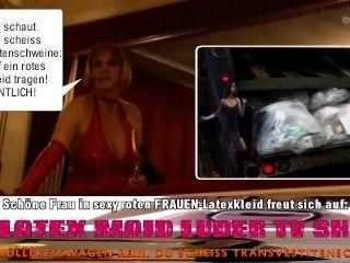 Sexy Latexkleid Frau Scheiss Transvestitenschweine Totpressen \u0026 Verbrennen